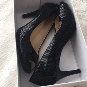 Beautiful Black Calvin Klein Peep Toe Heels